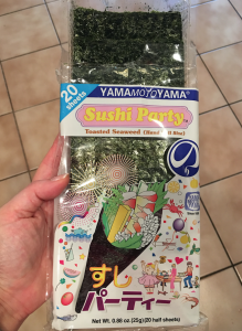 Nori seaweed can be purchased at most Asian food stores