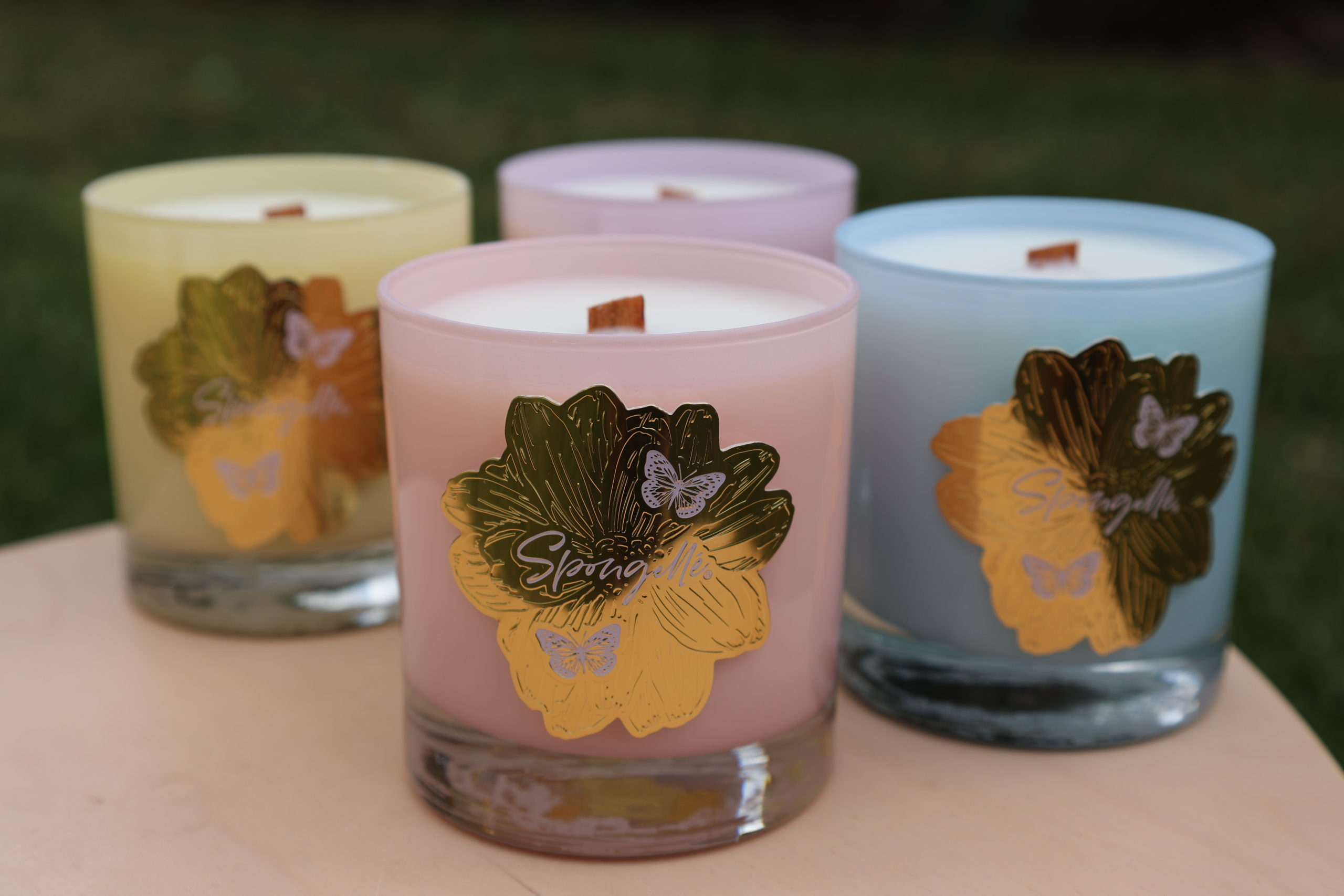PARKS LONDON PEACH AROMATHERAPY CANDLE ONE WICK SCENTED CANDLE BOXED NEW GIFT